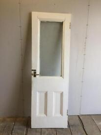 Vintage glazed solid pine panel door can deliver locally