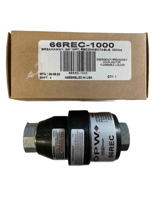 """NEW OPW 66REC-1000 Breakaway 3/4"""" NPT Reconnectable 350lbs Remove By 06/2025"""