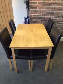Dining Table With 4 Chairs make me an offer