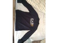Navy armani jumper XL