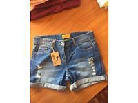 Denim shorts - 14