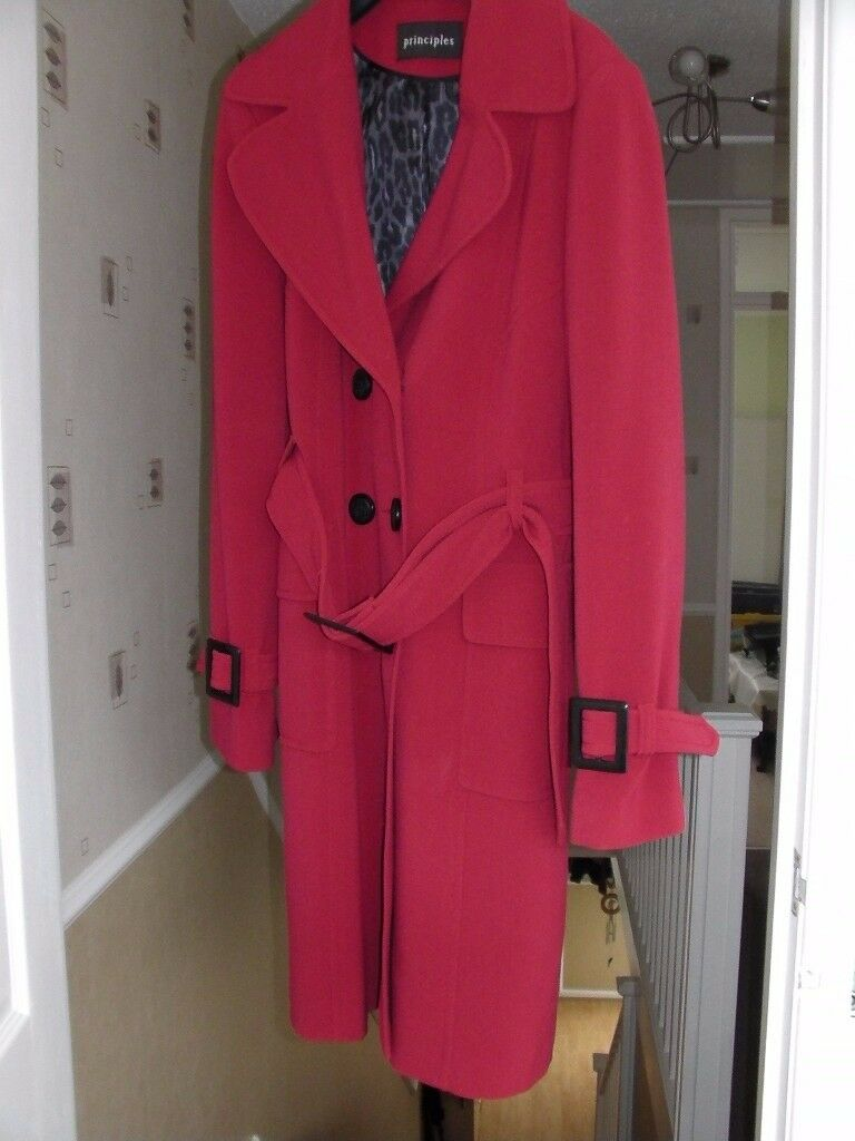 Red Principal coat size 14