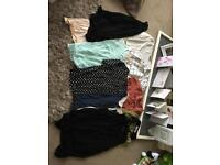 Bundle of 'work' tops size 8/10