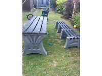 Heavy duty outdoor garden bench seat