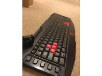 Tt eSports gaming keyboard and mouse