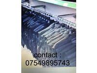 metal D bar clothing rail 1m