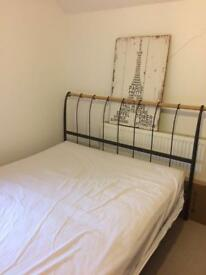 Kingsize bed frame (and mattress if required)