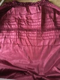 Wine/burgandy curtains
