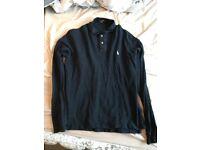 Men's Ralph Lauren Navy Polo Shirt Size Large