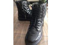 Ladies Carvella by Kurt Geiger Patent Boots - Size 6