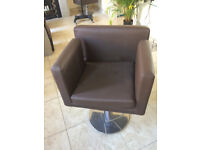 Salon Chairs with quality pump action Round Swivel Base made by Wella Brown Vinyl