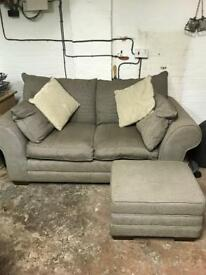 2 seater sofa & foot stall