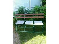 Vintage french bandstand bench