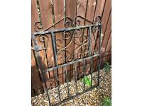 WROUGHT IRON GATE AND PANEL