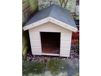 Solid wood painted dog kennel