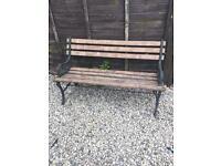 Garden Bench with Iron Ends