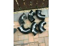 110mm 92.5° BEND SINGLE SOCKETS BLACK