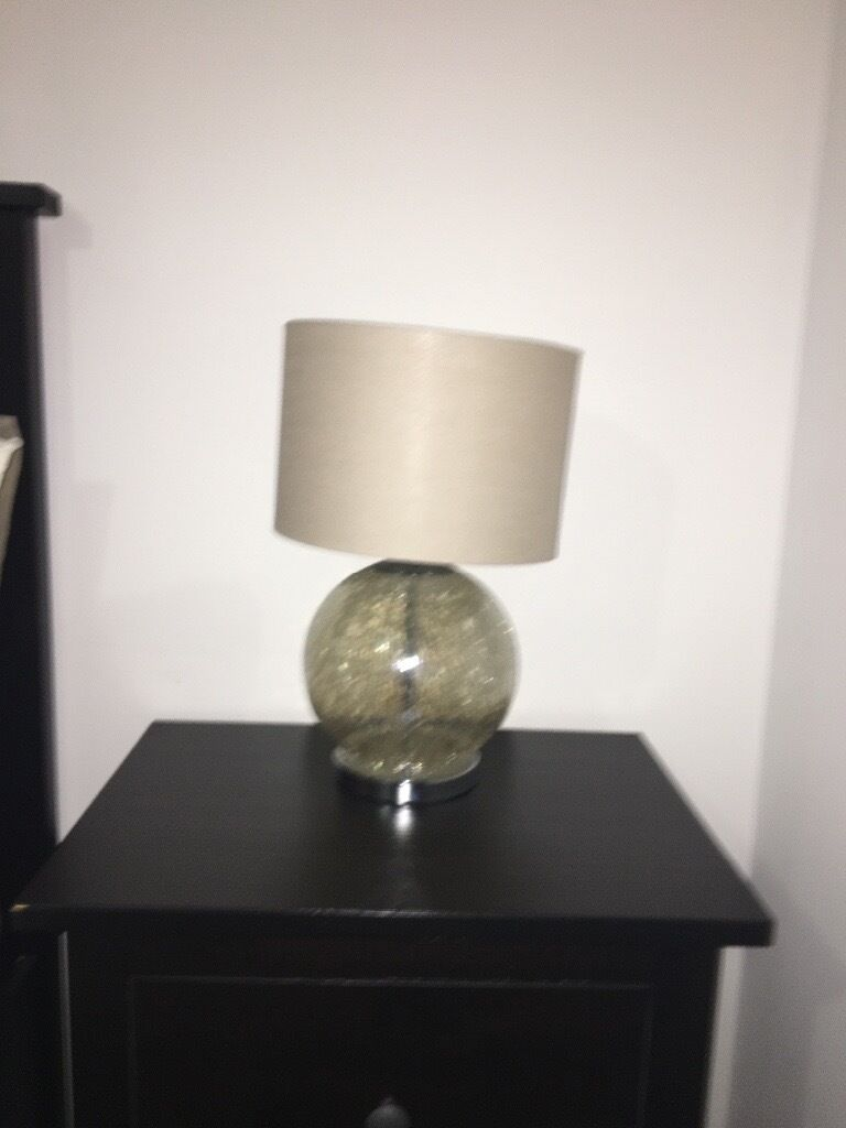 Next smoke crackle glass table lamp | in Wallsend, Tyne and Wear ...