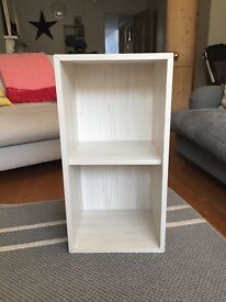 IKEA Valje 2 shelf unit in Larch White