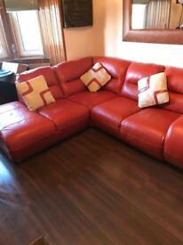 Ex-sterling Italian made Italian Leather corner sofa