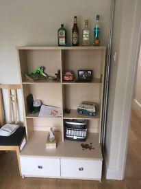 Bedroom Shelves and draw unit & bedside table - John Lewis