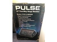"""Pulse 12"""" two way stage amplifier monitor"""
