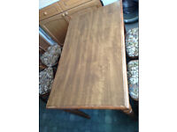 wooden rectangle dining kitchen table