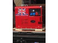Perkins 18.5 kva key start twin cylinder generator