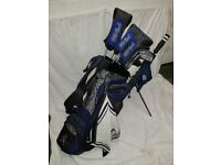 Ping G5 Extended set of left handed golf clubs.