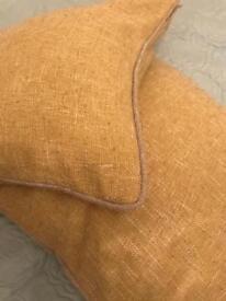 Next Cushions x 2 yellow