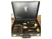 Solingen Gold Plated 70 Piece Cutlery Set