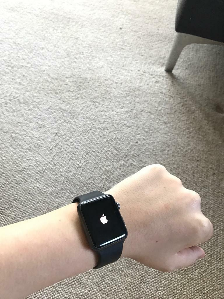 Apple Watch 42mm sport (PICK UP ONLYin Deepcar, South YorkshireGumtree - Im selling my Apple Watch Sport. It has very minor scratches on the screen that can only really be seen if you pay close attention and is in almost perfect condition. The one major problem is the back. Most of the writing on the back part has eroded...