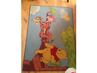 Brand New Disney Winnie the Pooh and Piglet Canvas Print & Winnie the Pooh Carpet, Home Dvd
