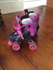 Racing Storm Roller Skates - 4 wheels and stopper. UK sizes 12 - 2
