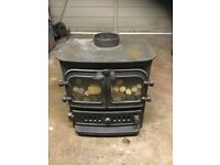 "VILLAGER CHELSEA DUO - Log Burner Effect Gas Fire, Complete with 6"" FLU."