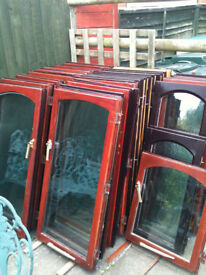 Window inserts with double glazed glass (wood) x25