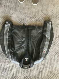 Woman's Dainese leather motor bike jacket size 44