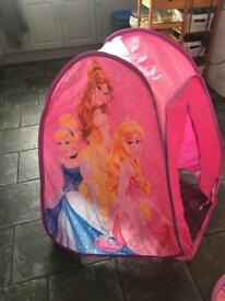 Pink princesses pop up tent and tunnel