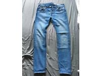 All Saints Mens Cigarette Skinny Fit Jeans - Size 30 Waist