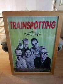 Large framed trainspotting poster