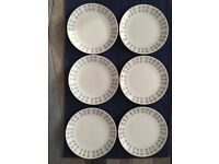 Snowdrop Johnson Bros abstract pattern side plates x 6