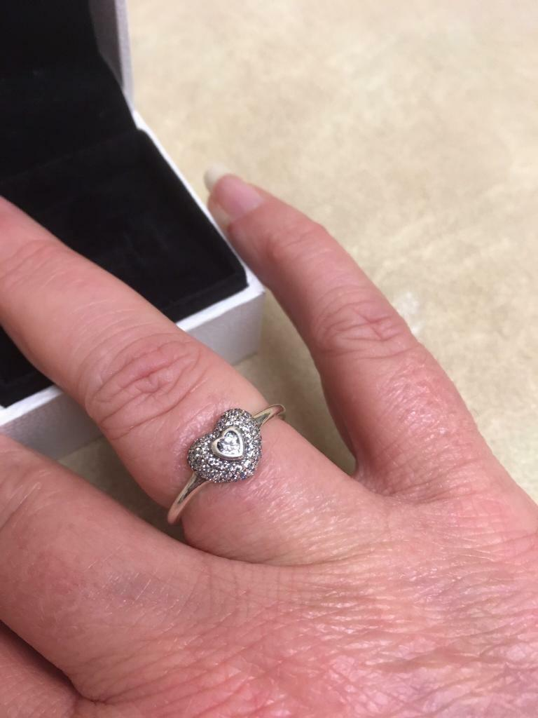 Pandora Heart Ring Size 60 | in Towcester, Northamptonshire | Gumtree