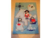 Children's pirate rug/curtains/boxes