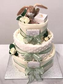Luxury 3 tier nappy cakes, baby shower, Peter Rabbit, Minnie Mouse, Guess How Much I Love You