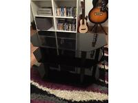 TV Stand black glass brilliant condition must see!