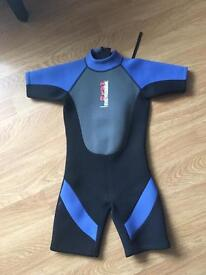 Two wetsuits 28 inch chest