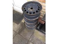 """Steel 16"""" wheels set of 4"""