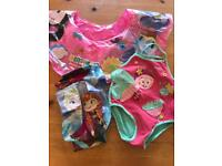 Girls 2 yr swim costume and inflatables
