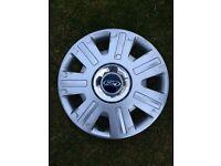 """Ford Mondeo Mk3 16"""" Wheel Trim With Chrome Centre Cap & Blue Ford Emblem"""