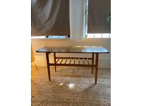 Formwood mid century retro long coffee table with shelf & spindles Vintage